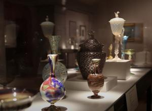 glass display at museum