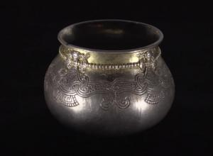 Metal Viking Bowl with Engraving