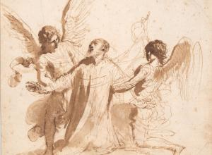 Guercino (1591–1666), Vision of St. Philip Neri, 1646–1647