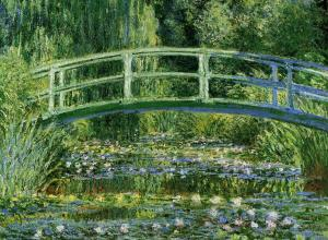 Claude Monet, Water Lilies and the Japanese bridge, 1897-99.