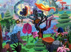 JoAnne Carson,Wishful Thinking, 2019. Acrylic on canvas.