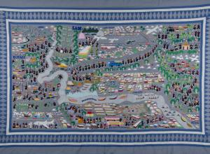 Zoua Vang Lor, Story Cloth, 1985-89.