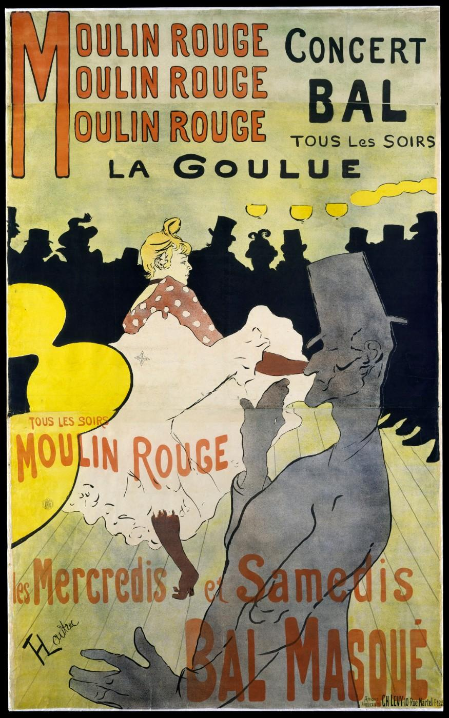 Henri de Toulouse‑Lautrec (French, 1864–1901), Moulin Rouge: La Goulue, 1891, Lithograph
