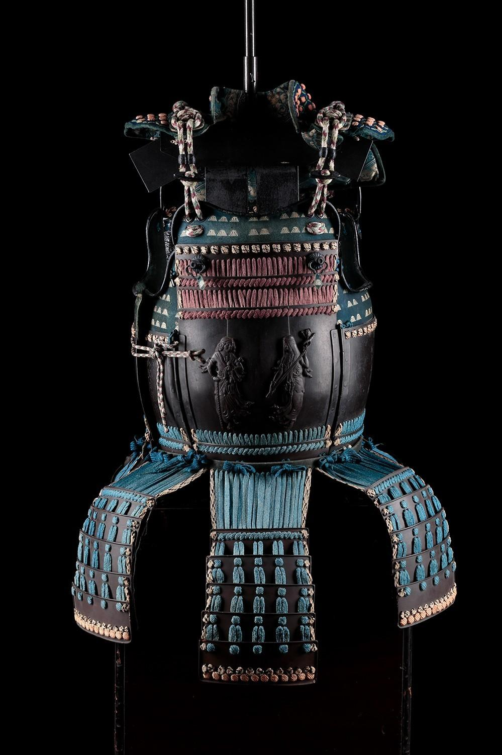 Tosei Gusoku, Armor breastplate. Lacquered steel, silk, brass, yak hair, alloys of copper, leather. Japan, Edo Period (1603-1868). Signed Myōchin Munichika.