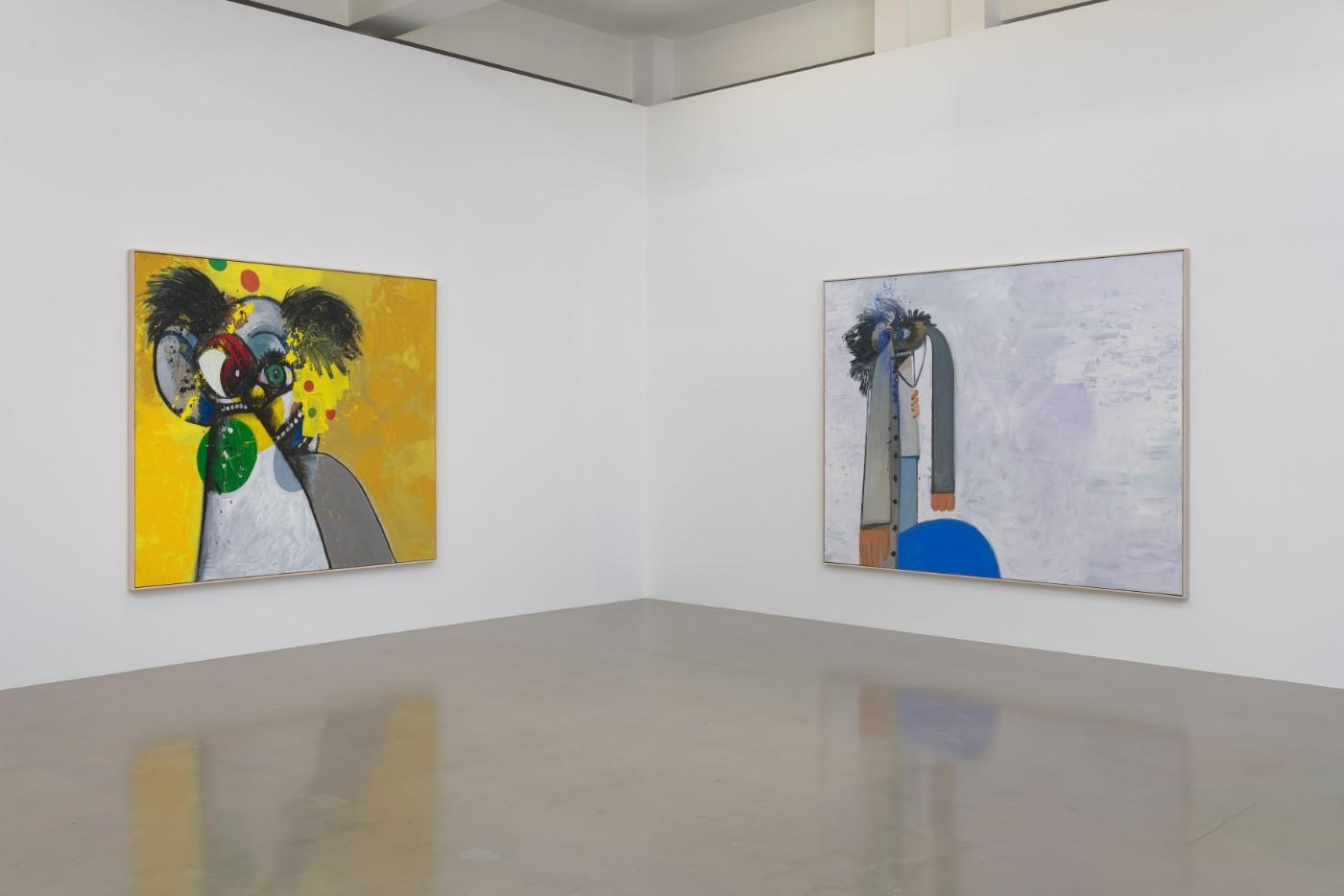 Installation view, George Condo: What's the Point?, at Sprüth Magers in Los Angeles through June 1