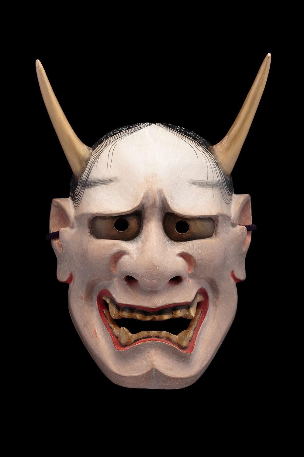 Nomura Ran, Hannya No Theater mask. Painted wood. Japan, Edo Period (1603-1868).