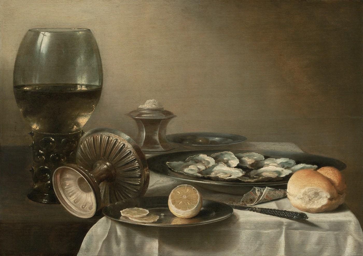 Pieter Claesz (Dutch, about 1597–1660), Still Life with Wine Goblet and Oysters, 1639