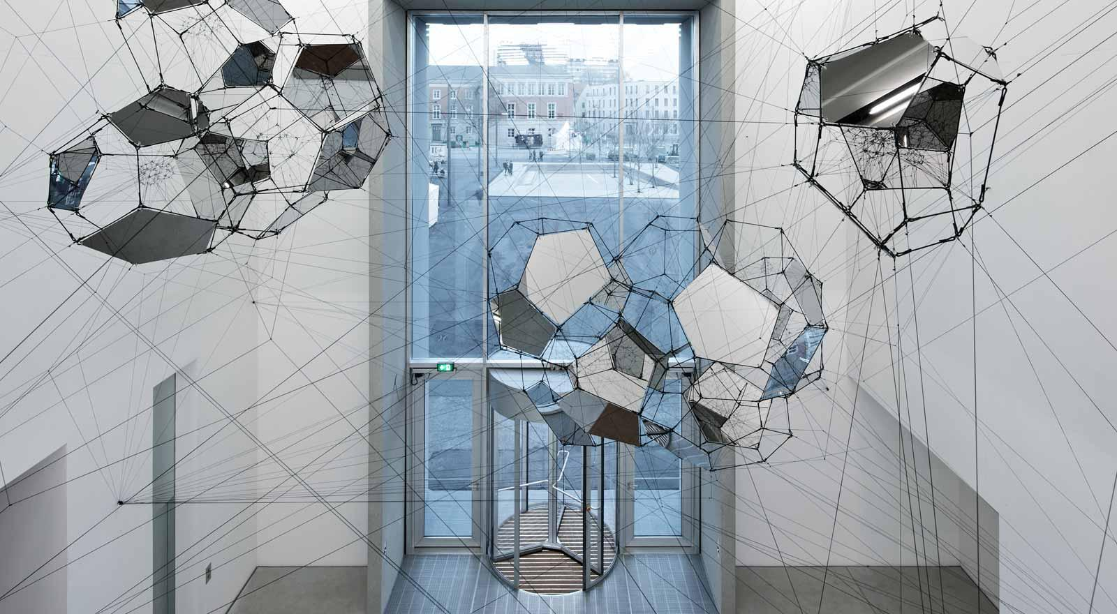 Tomás Saraceno's Sundial for Spatial Echoes in the foyer of the Bauhaus Museum Weimar