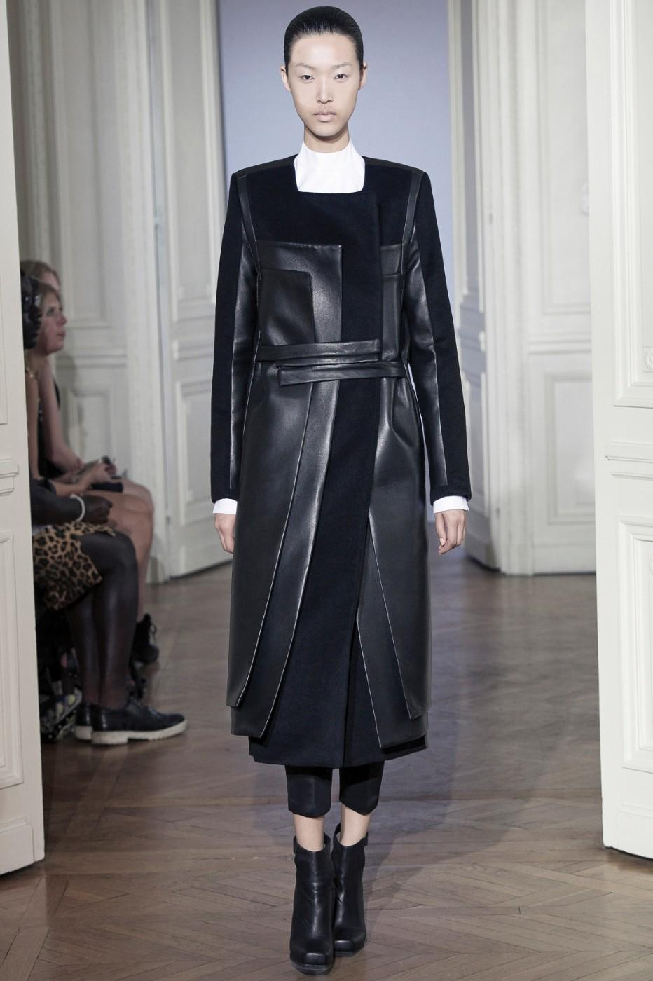Unisex Couture Look #3 – Coat – From Rad Hourani Unisex Couture Collection #9 Paris, Fall/Winter 2012. Rad Hourani (Canadian, born in Jordan 1982).