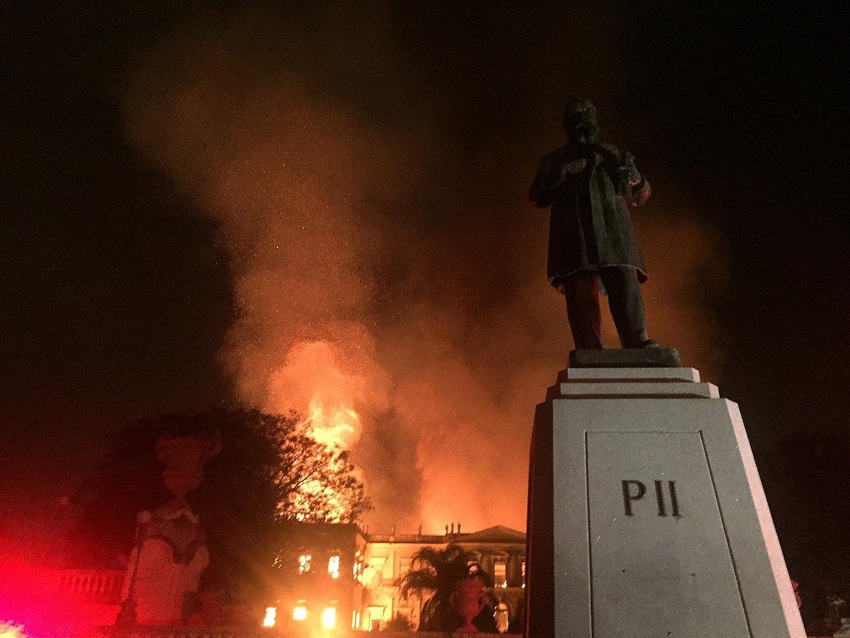 The Brazil National Museum in flames