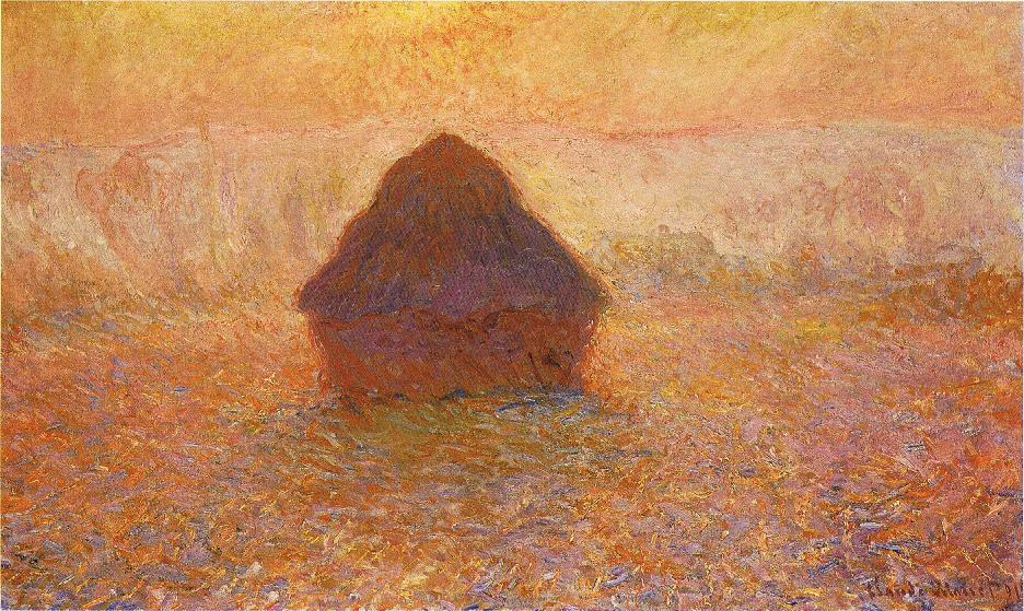 Claude Monet, Wheatstack (Sun in the Mist), 1891