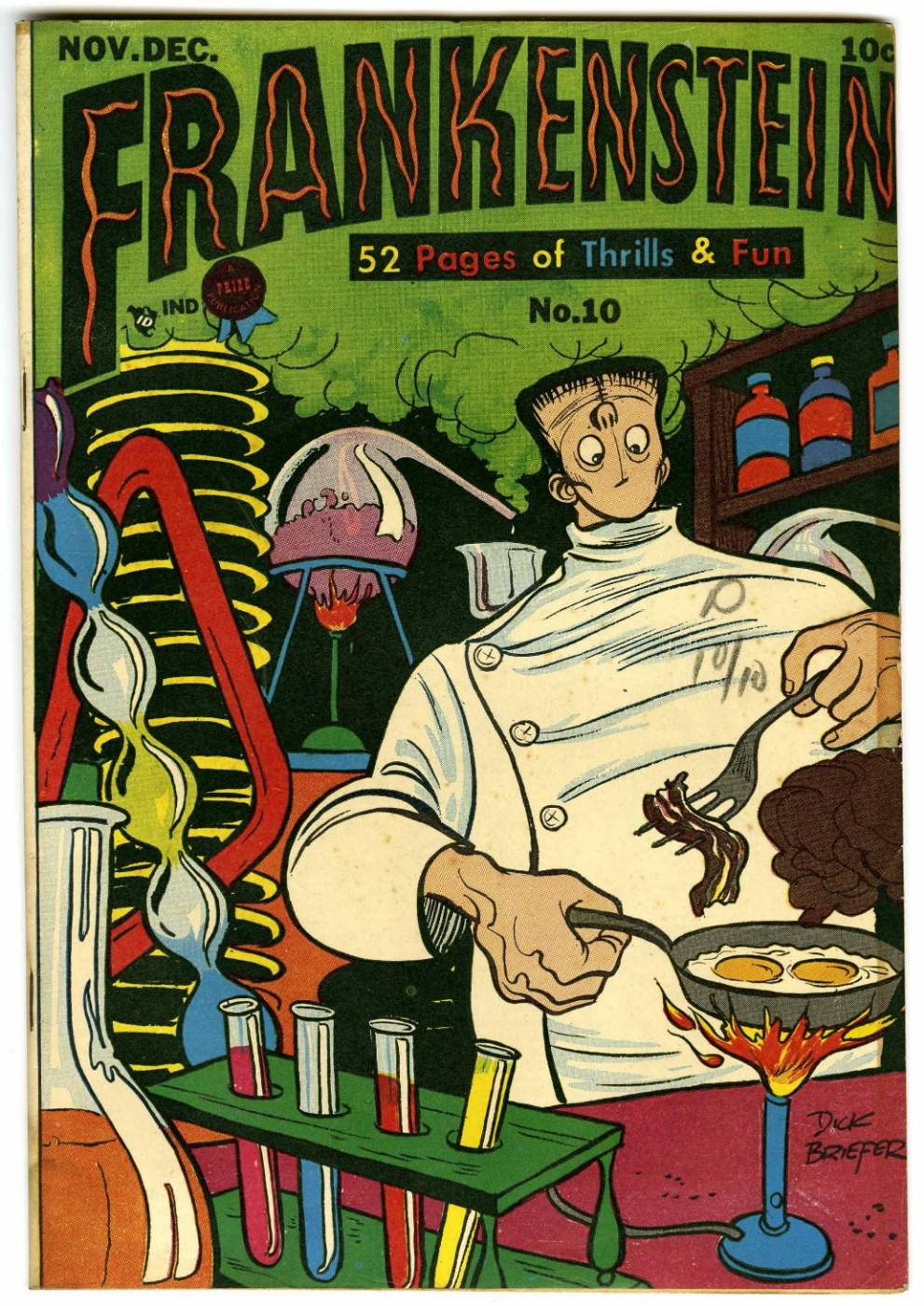 Dick Briefer (1915 – 1980), Frankenstein, no. 10, New York: Prize Comics