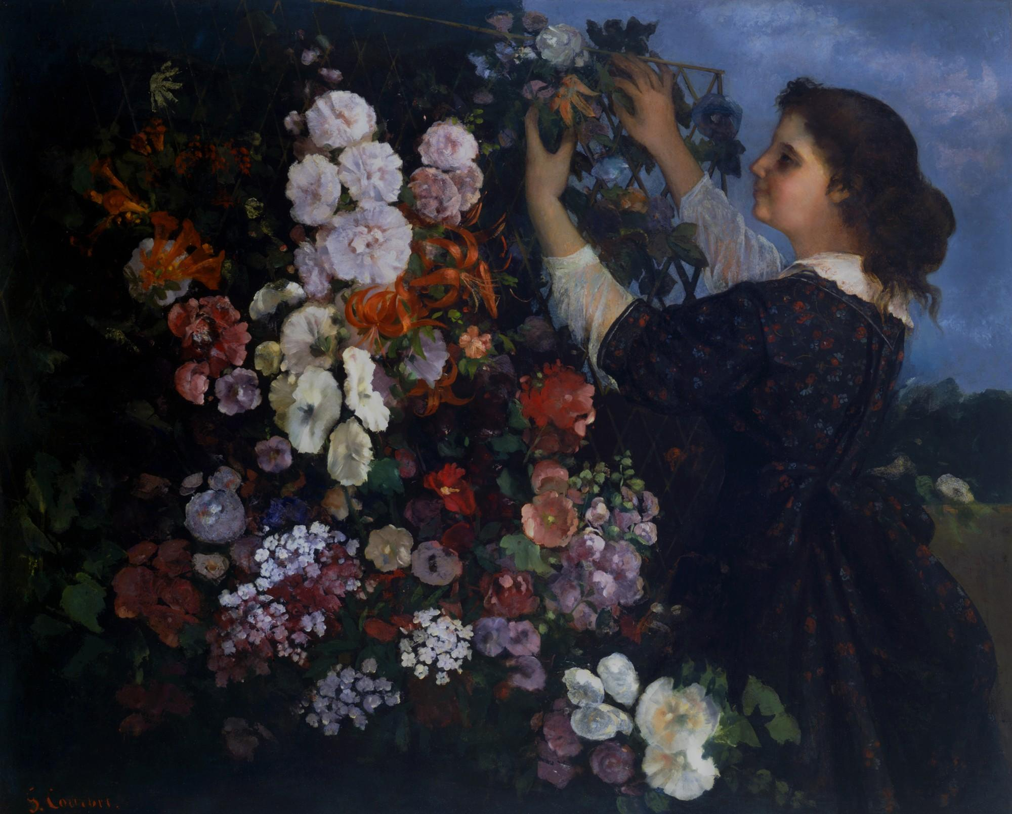 Gustave Courbet (French,1819–1877), The Trellis, 1862. Oil on canvas.