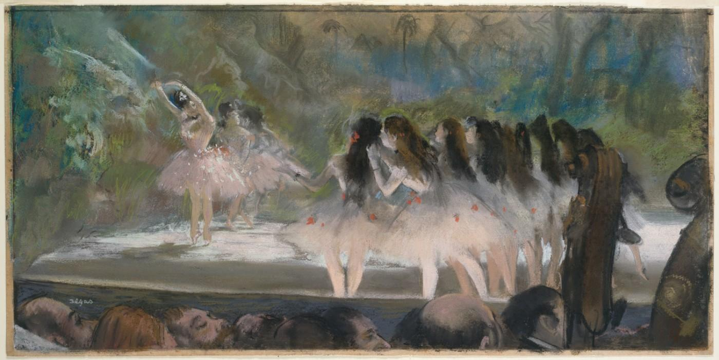 Edgar Degas, Ballet at the Paris Opéra, 1877