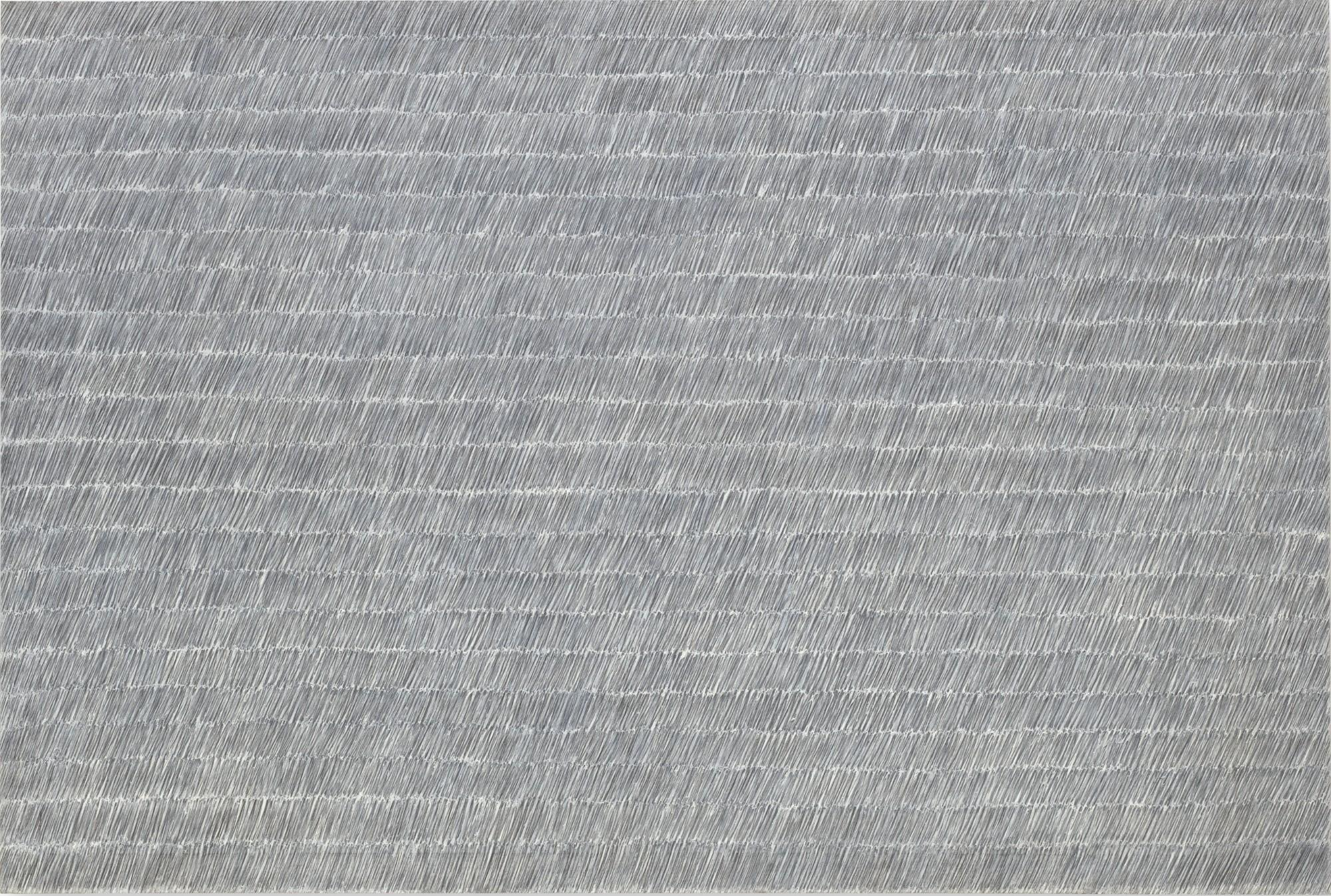 Park Seo-Bo, Ecriture No. 55-73, 1973. Graphite and oil on canvas.