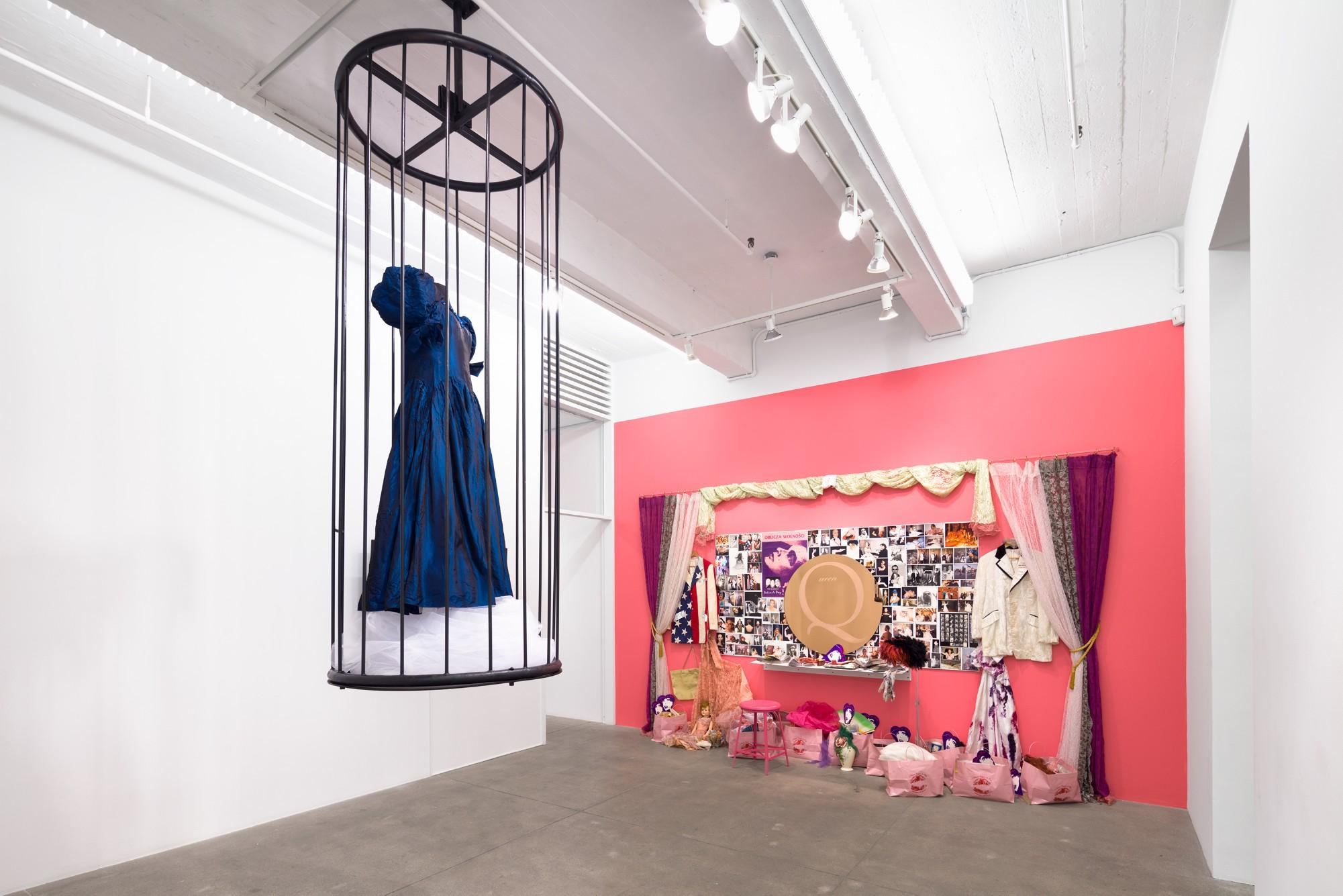 Installation view, Hunter Reynolds' From Drag to Dervish at P·P·O·W, New York, now available to view online.
