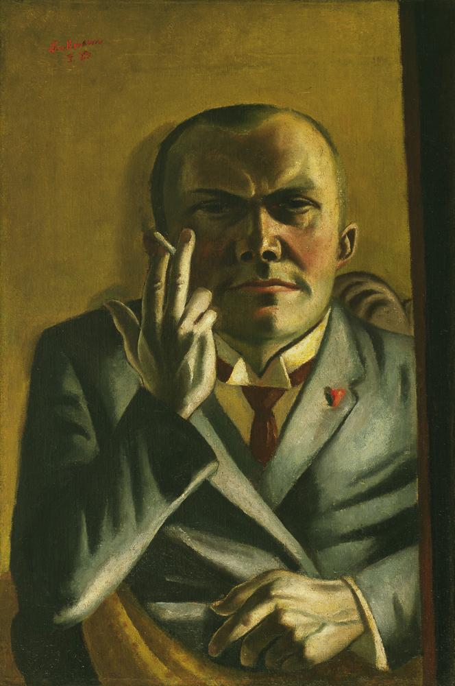 Max Beckmann (1884–1950), Self-Portrait with a Cigarette, 1923. Oil on canvas.