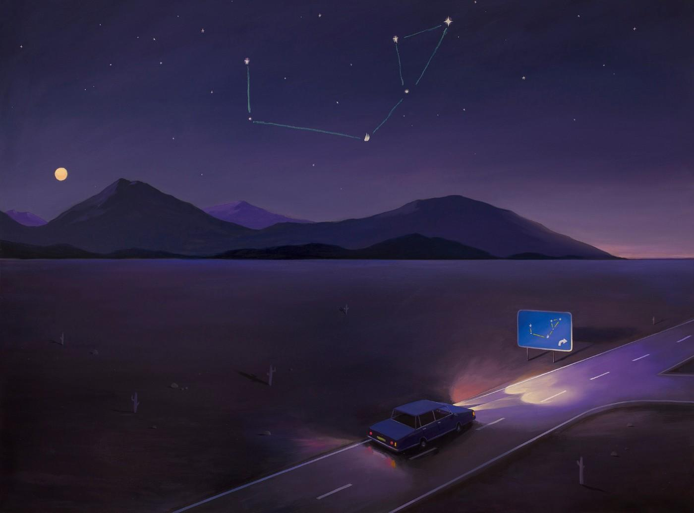 Oliver Jeffers, Constellation Road Map, 2018