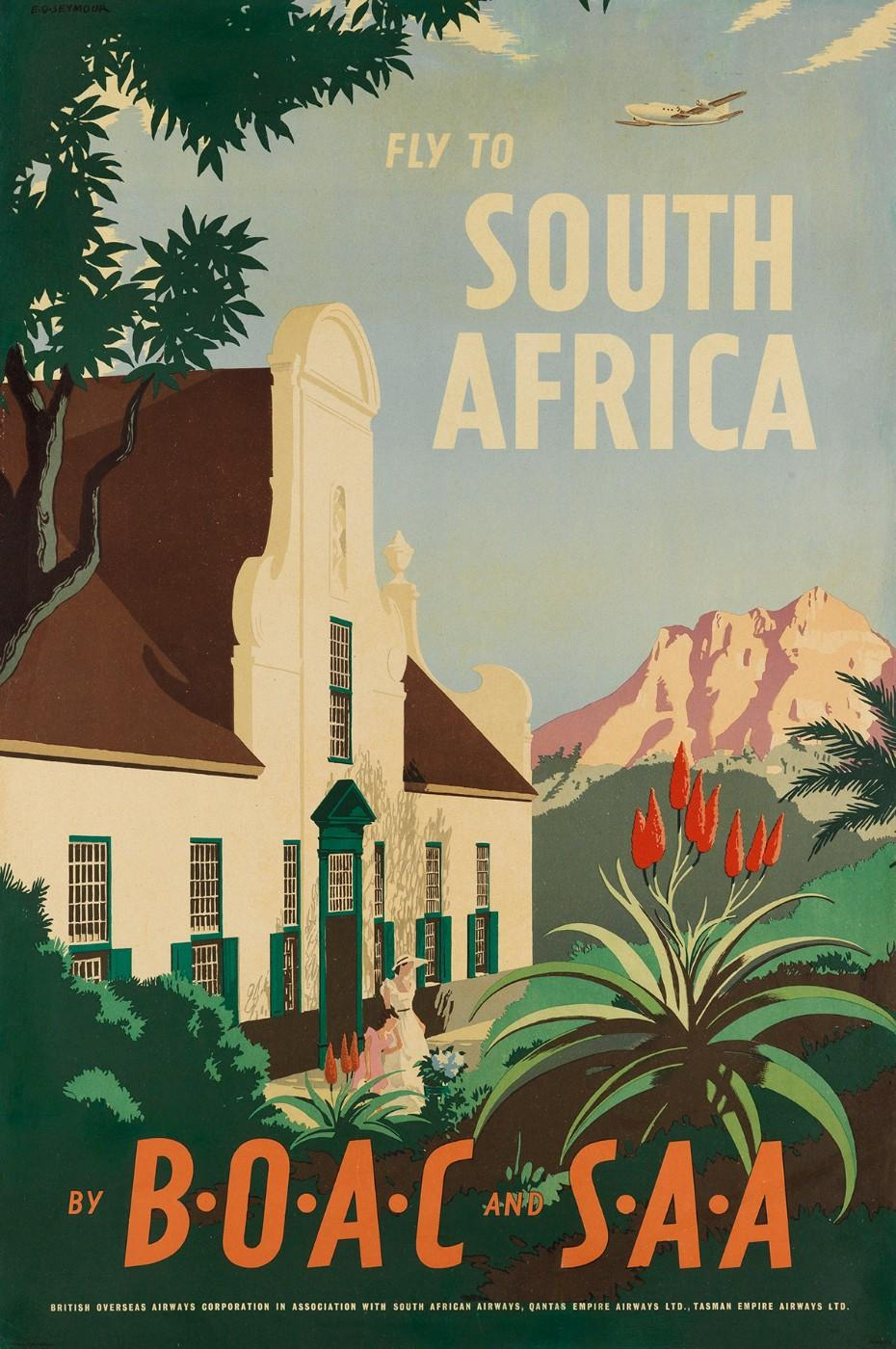 E.O. Seymour, Fly to South Africa/By BOAC and SAA, 1950