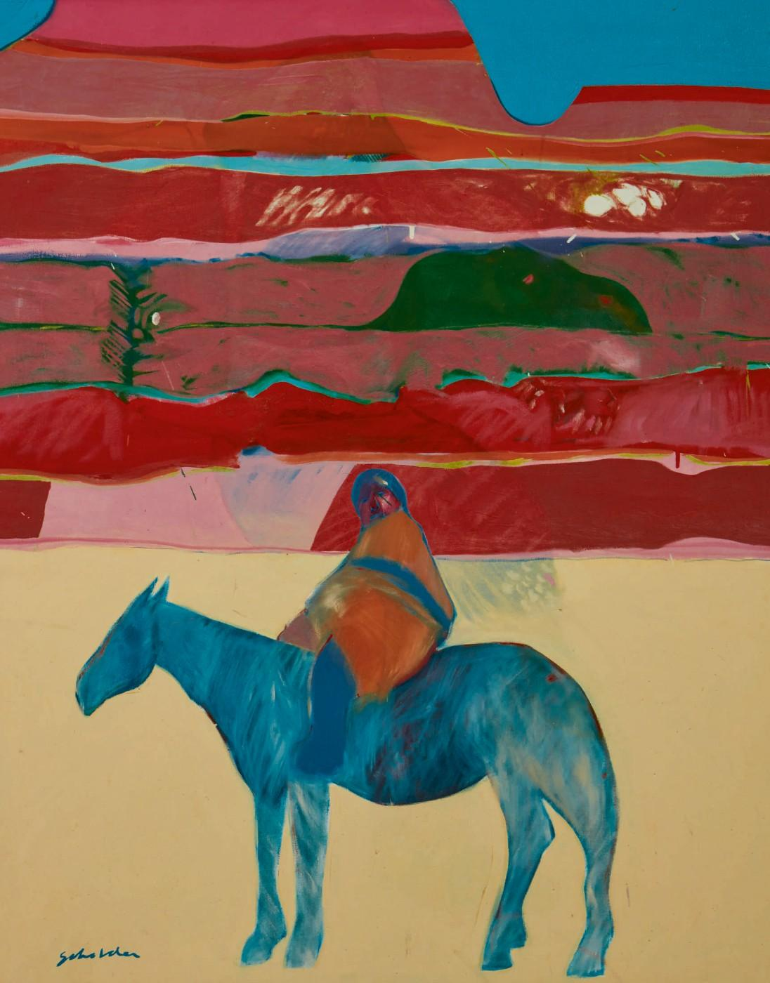 Fritz Scholder, Indian On A Blue Horse, 1968