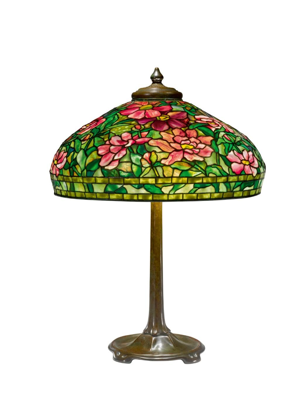 "Tiffany Studios, ""Peony"" Table Lamp, circa 1915"