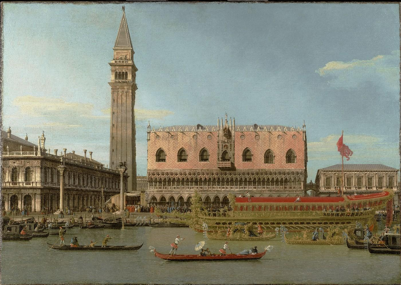 The Bucintoro at the Molo on Ascension Day, about 1745. Canaletto