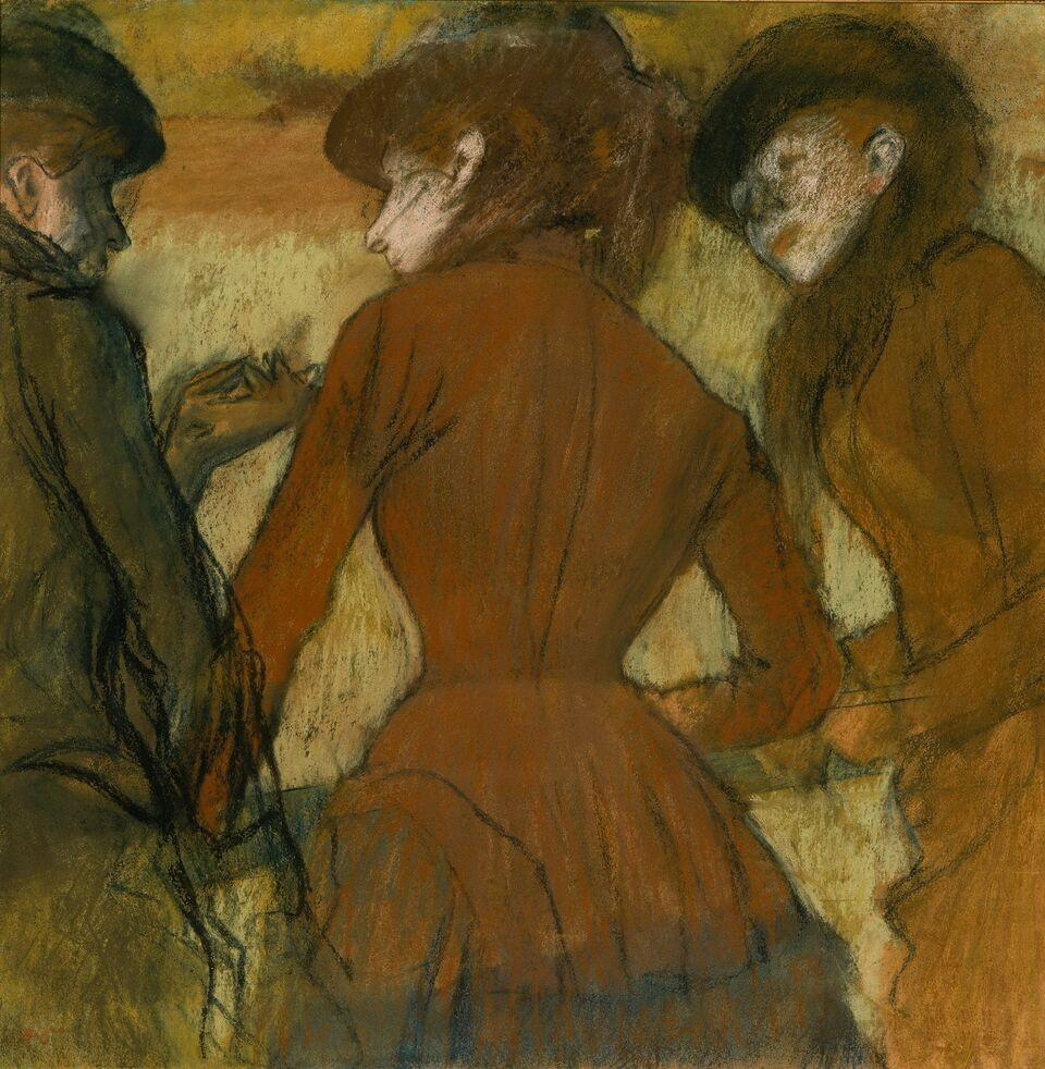 Edgar Degas, Three Women at the Races (Trois femmes aux courses), about 1885