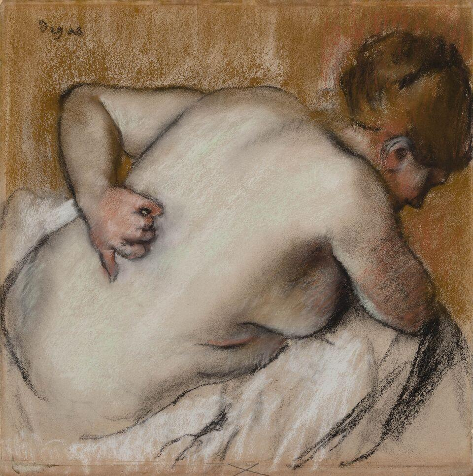 Edgar Degas, Woman Scratching Her Back, 1881