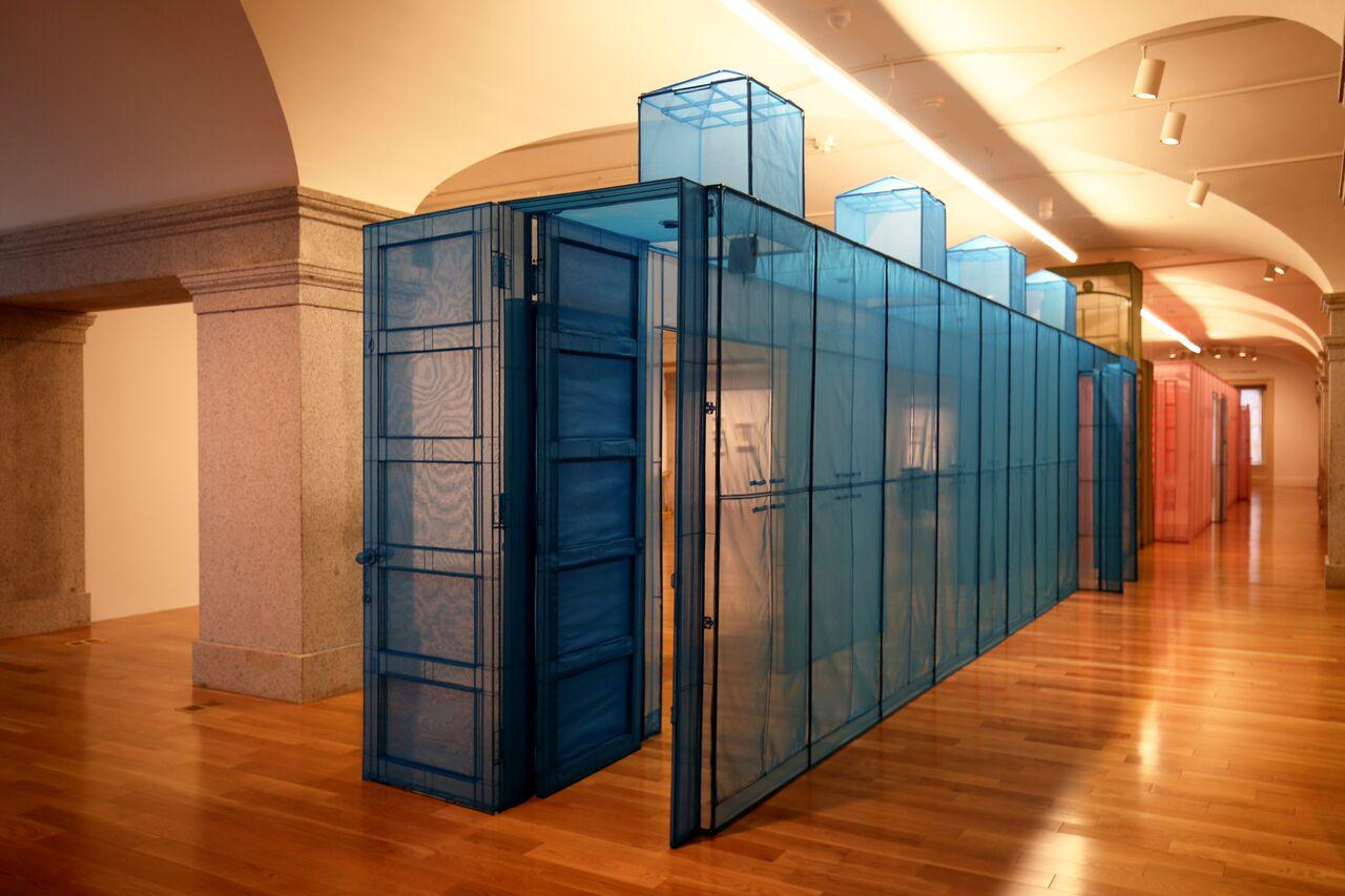 Installation shot of Do Ho Suh: Almost Home, Smithsonian American Art Museum, 2018