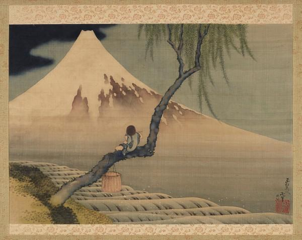 Boy Viewing Mount Fuji, Hokusai