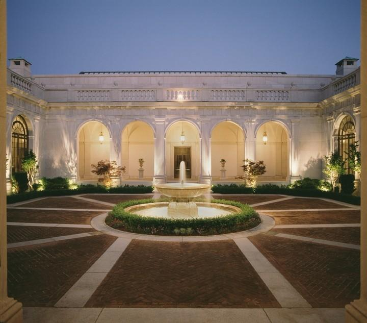 The Freer Gallery of Art Courtyard at Night