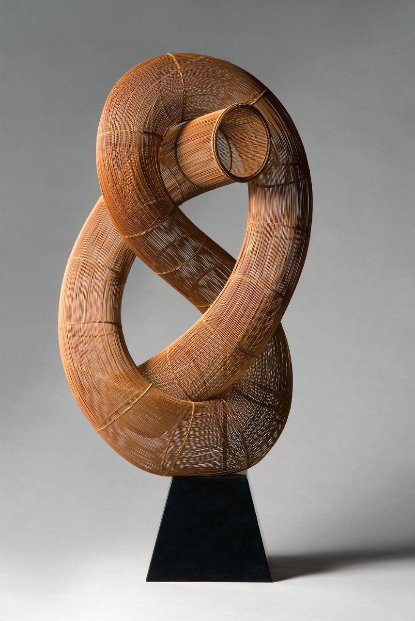 "FujitsukaShosei, Bamboo BasketrySculpture;""Winding"",1983"