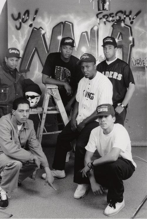 "George Rodriguez, ""N.W.A, Keen, and Larie Ruelas, Burbank, 1990"""