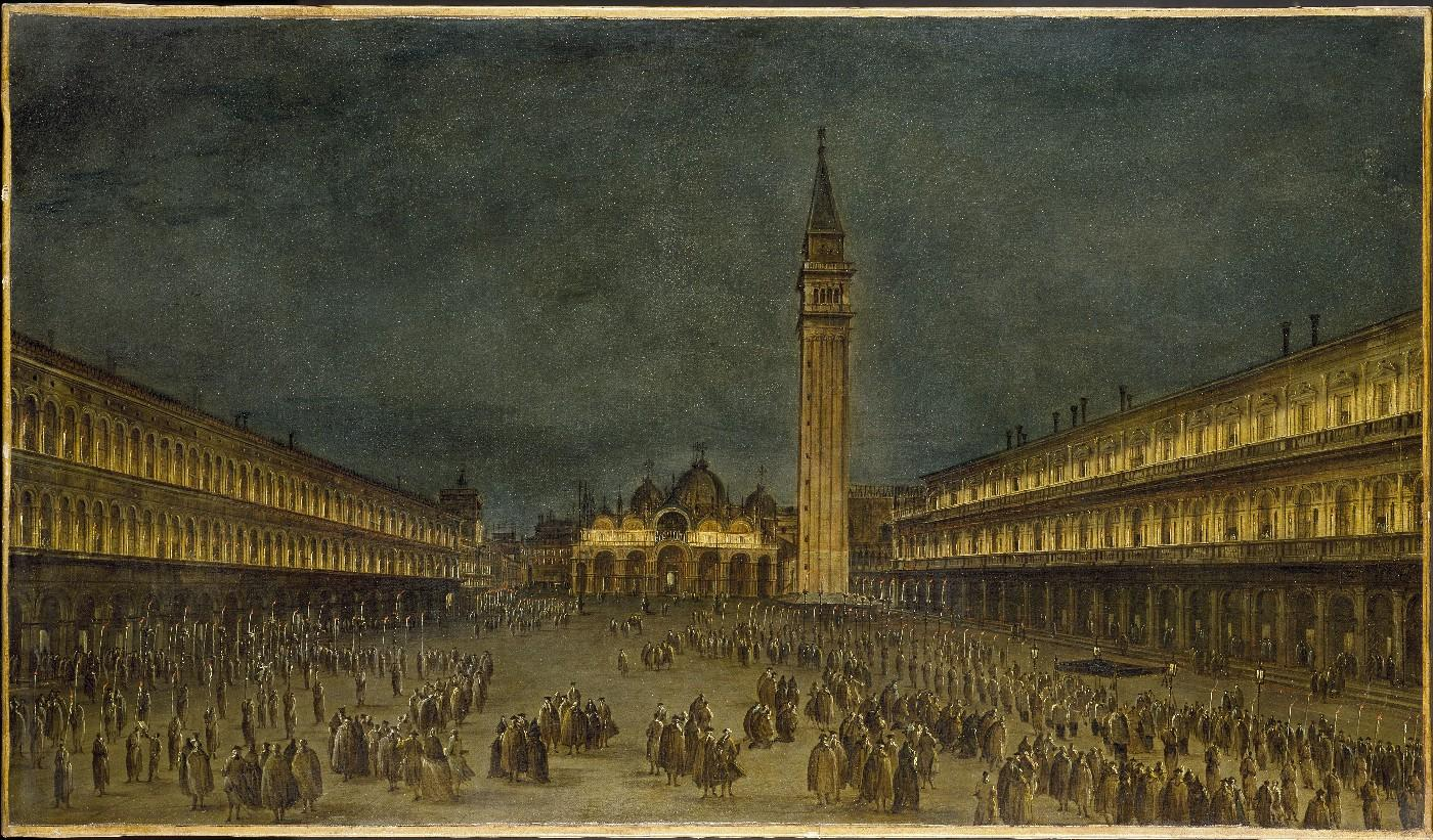 A Night Procession in the Piazza San Marco, about 1755. Francesco Guardi