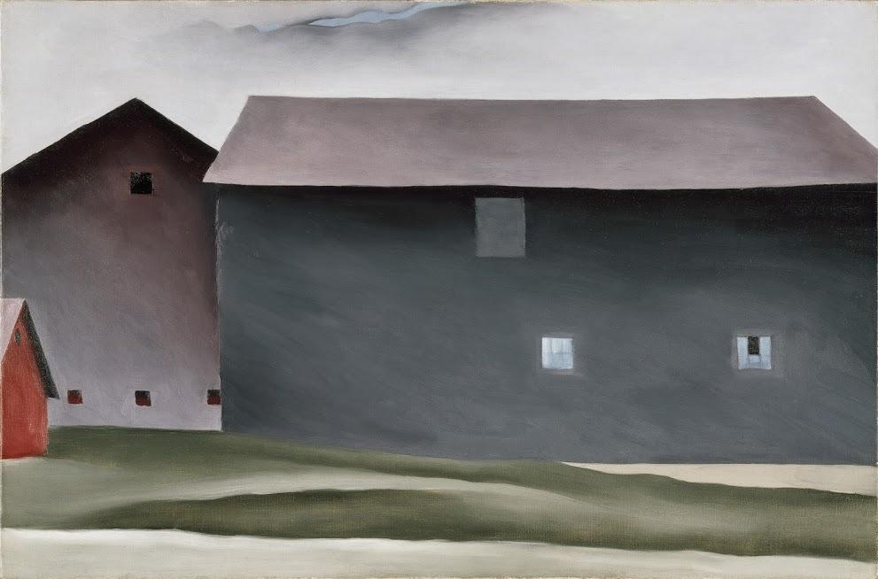 "Georgia O'Keeffe, ""Lake George Barns,"" 1926"