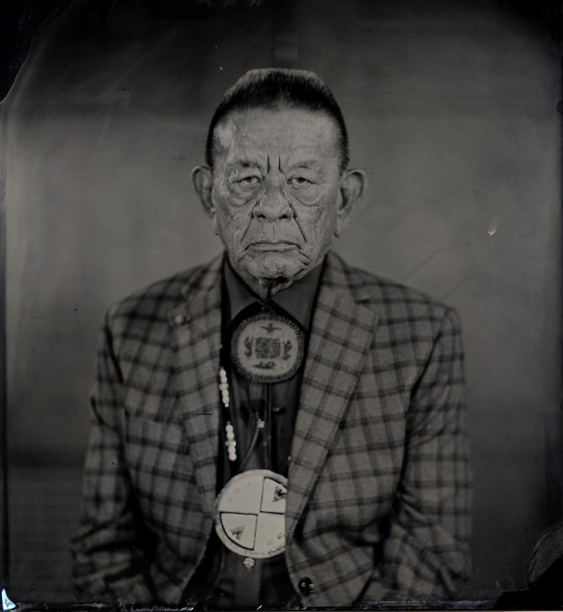 "Will Wilson, Diné, b. 1969, ""Talking Tintype, John McCoy, Washington State Senator, Citizen of the Tulalip Nation,"" 2018"