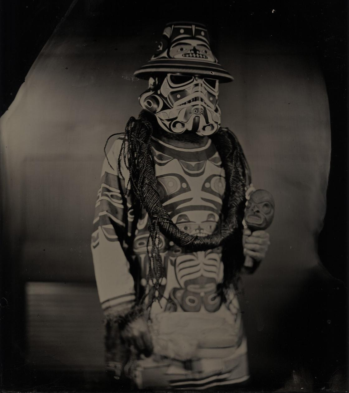 "Will Wilson, Diné, b. 1969, ""K'ómoks Imperial Stormtrooper (Andy Everson), Citizen of the K'ómoks First Nation,"" 2018"