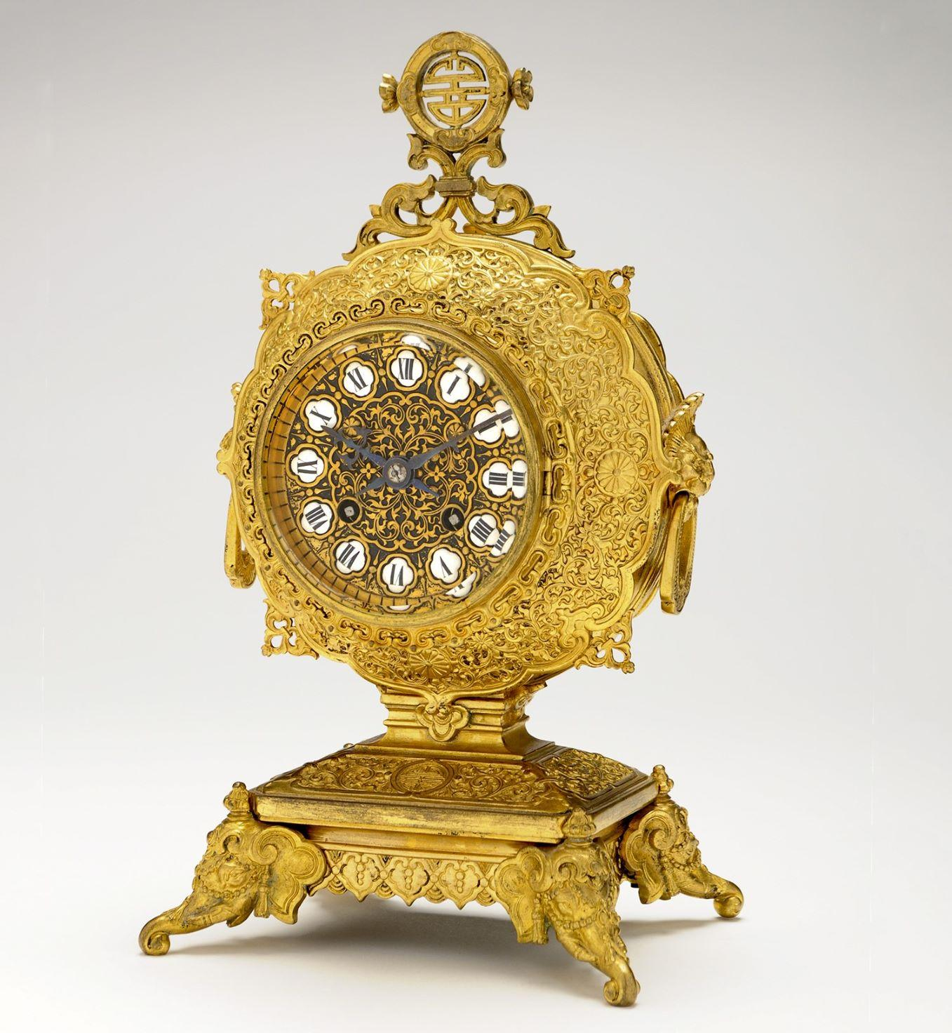 Gold Clock Lot at Auction