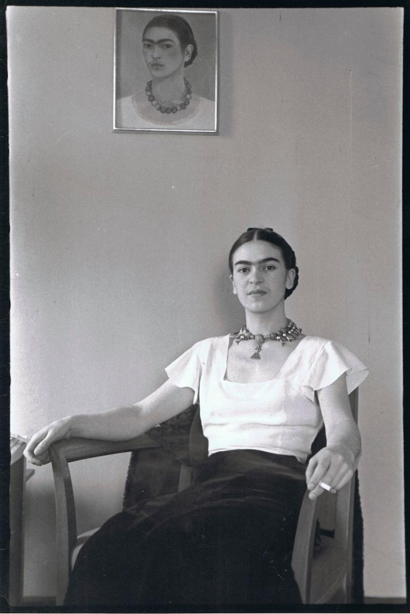 Lucienne Bloch (1909-1999), Frida Kahlo at the Barbizon Plaza Hotel, New York, 1933