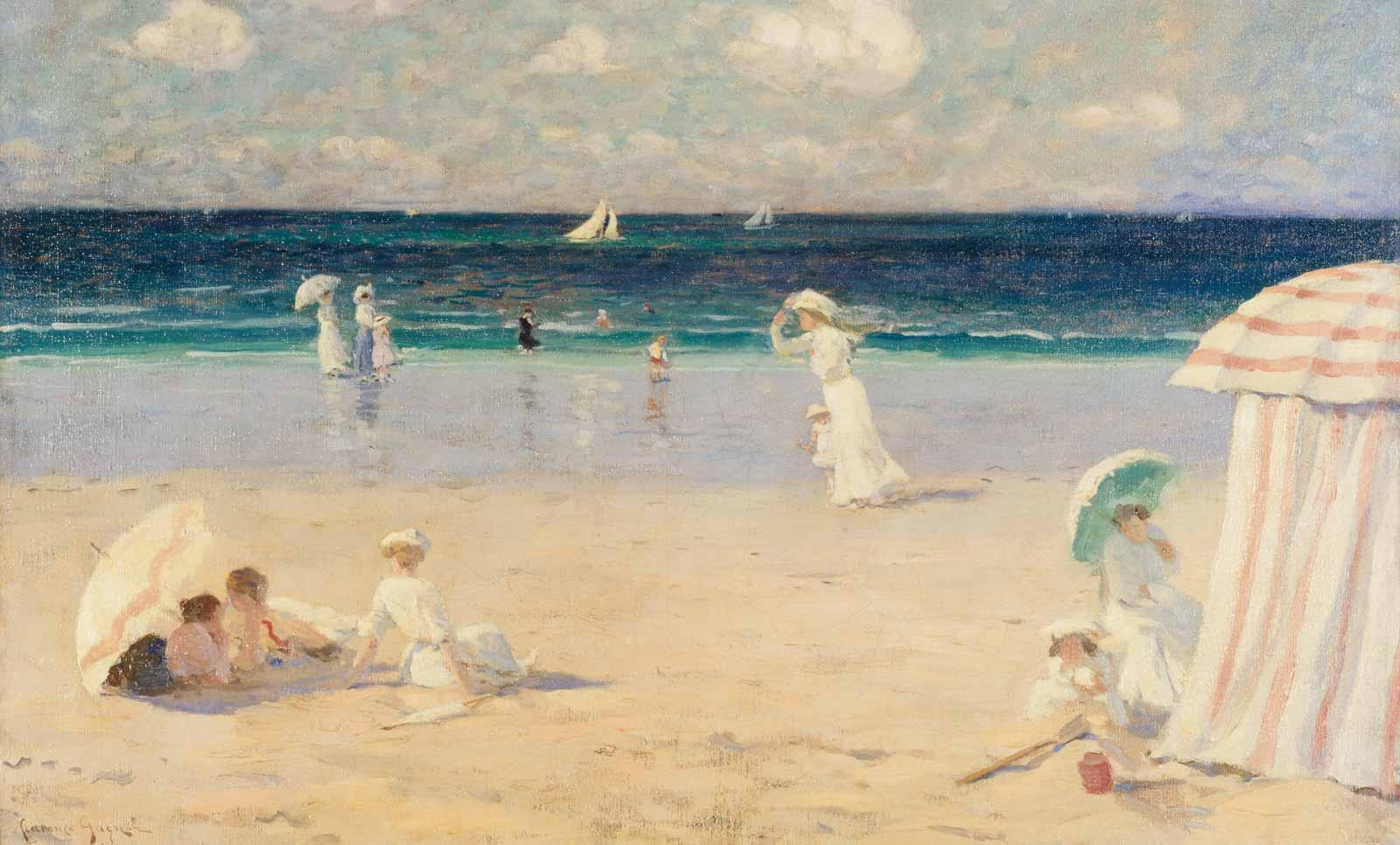 Clarence Gagnon, Summer Breeze at Dinard, 1907.