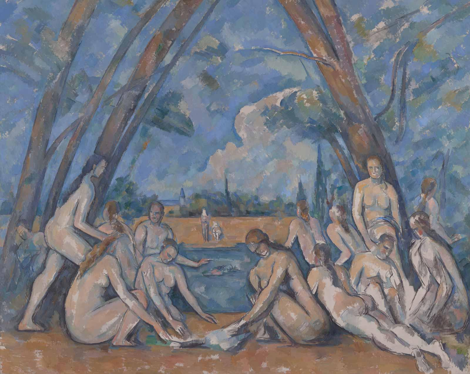 The Large Bathers, 1900-1906, by Paul Cézanne.