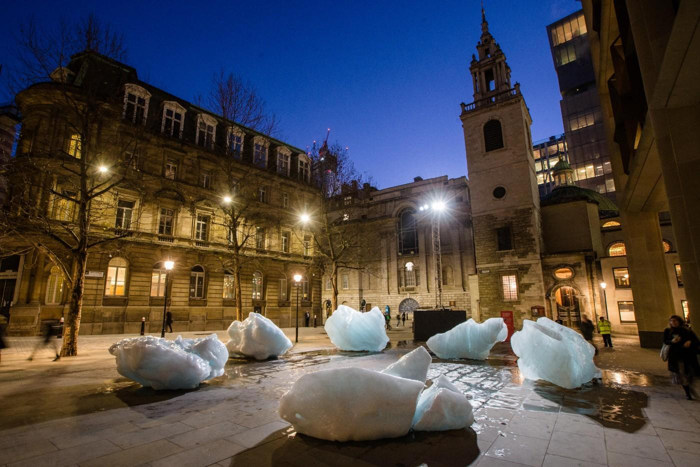 Ice Watch by Olafur Eliasson and Minik Rosing