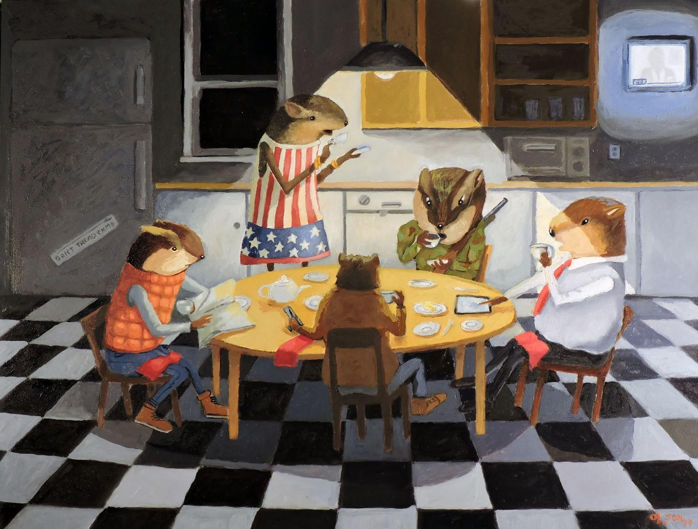 Christopher Olson, Lemming Tea Party, 2019