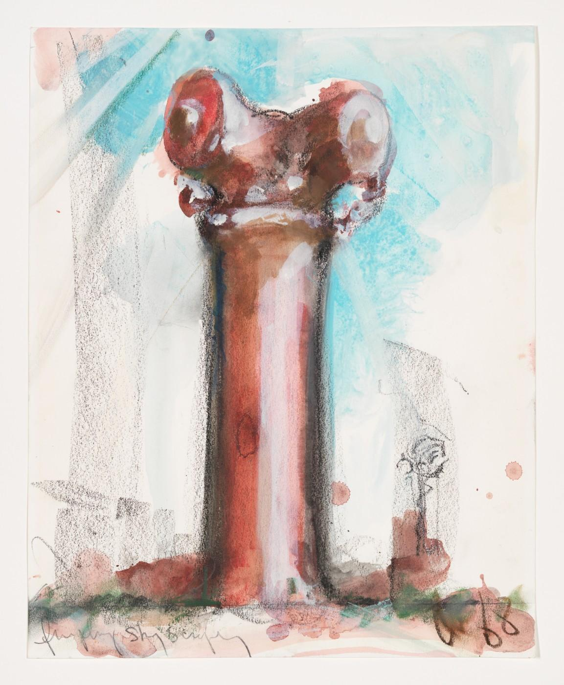 Claes Oldenburg, Proposal for a Skyscraper in the Form of a Chicago Fireplug, 1968