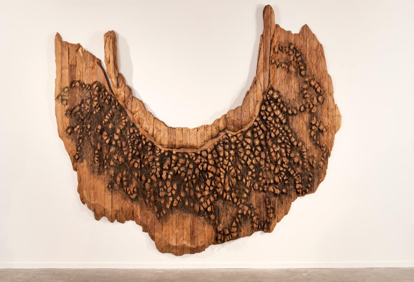 Ursula von Rydingsvard, Collar with Dots, 2008