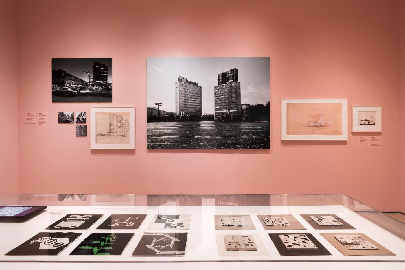 Installation view of Toward a Concrete Utopia: Architecture in Yugoslavia, 1948–1980