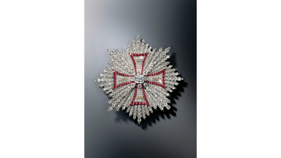 Breast Star of the Polish White Eagle Order, Geneva / Vienna, between 1746 and 1749.