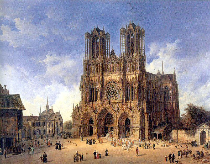 Domenico Quaglio the Younger  (1787–1837), The Cathedral of Reims