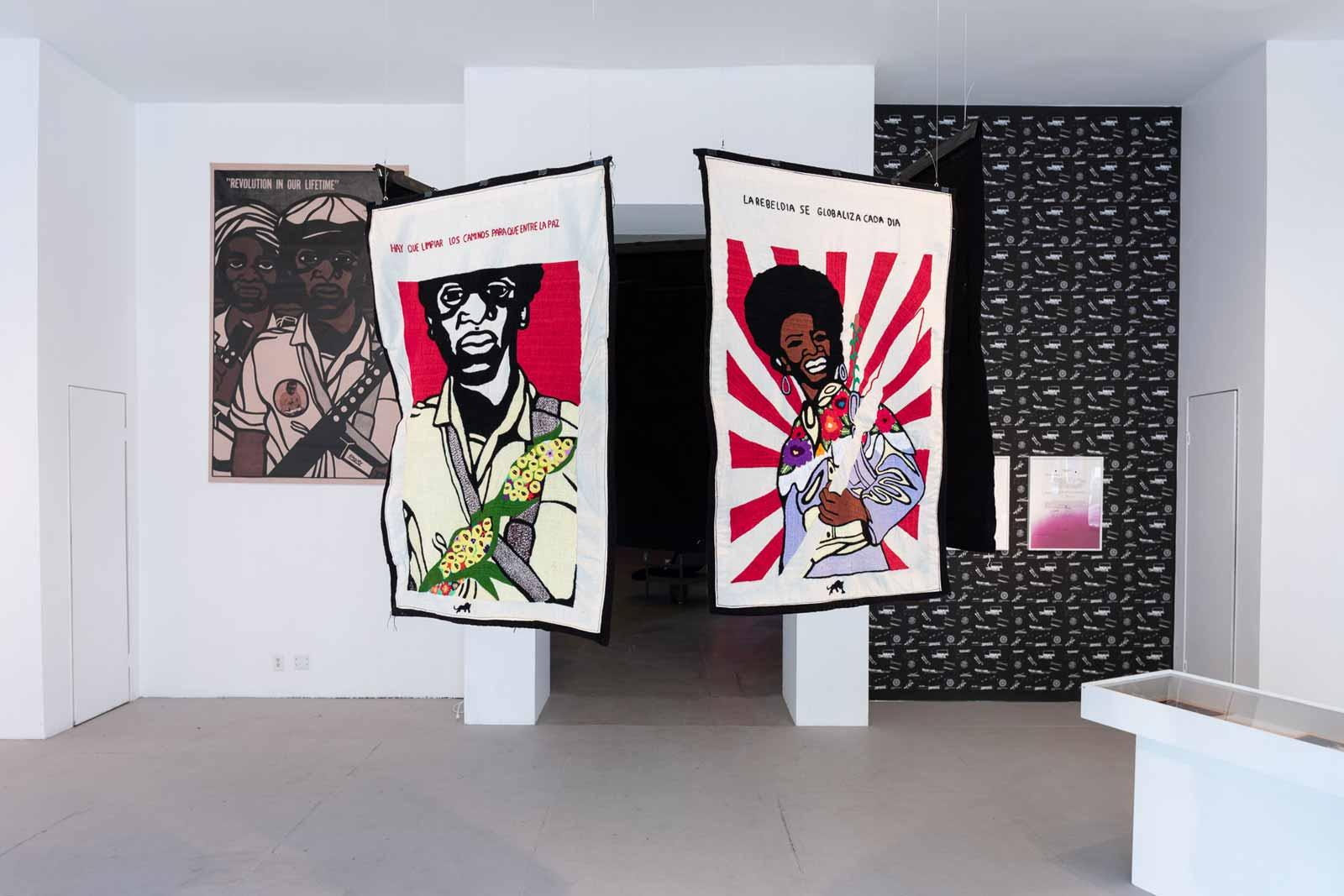 Installation view, Emory Douglas: Bold Visual Language