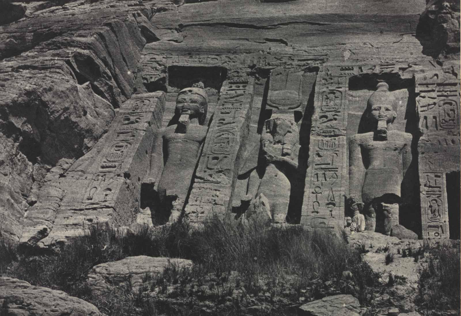 Maxime Du Camp, Southern Portion of the Rock-cut Temple of Hathor, Abu Simbel, 1850.
